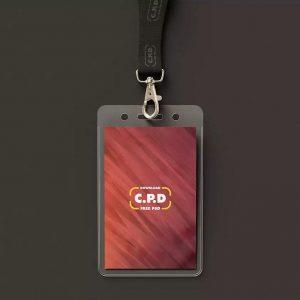 Realistic Employee ID Free PSD Mockup