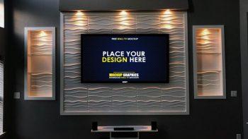 Smart Led TV Free PSD Mockup