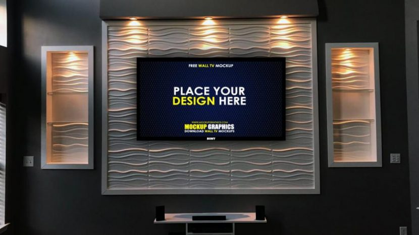 Smart Led TV Free PSD Mockup