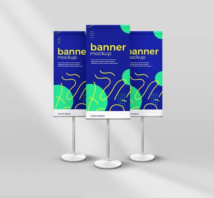 Standing Banner (Roll Up) Free PSD Mockup