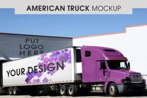 American Truck Free (PSD) Mockup Template