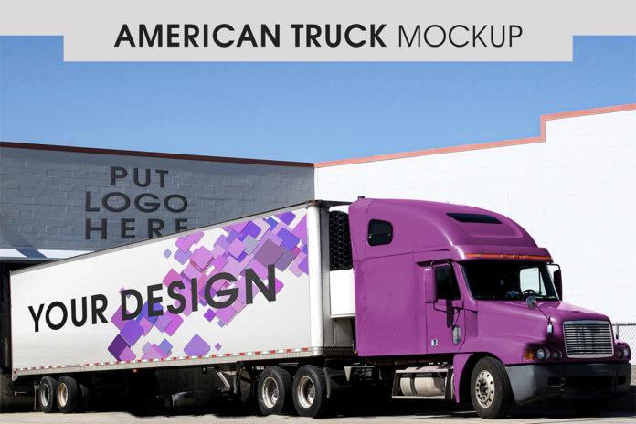 American Truck Free (PSD) Mockup Template