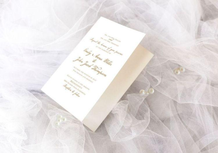 Astonishing Wedding Invitation Free PSD Mockup