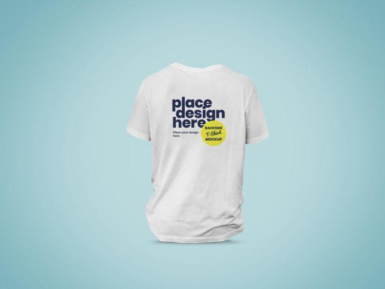 Backside of T-Shirt Free (PSD) Mockup