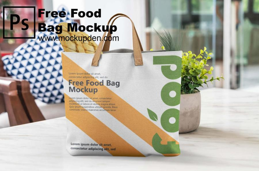 Carry Food Bag Free PSD Mockup Template