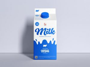 Carton Milk Packaging Free (PSD) Mockup