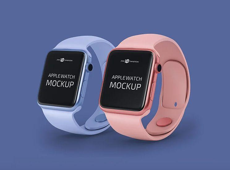 Clean Apple Watch Free Mockup Template
