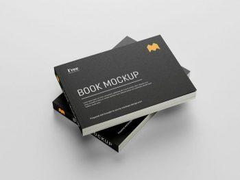 Landscape Book Free (PSD) Mockup