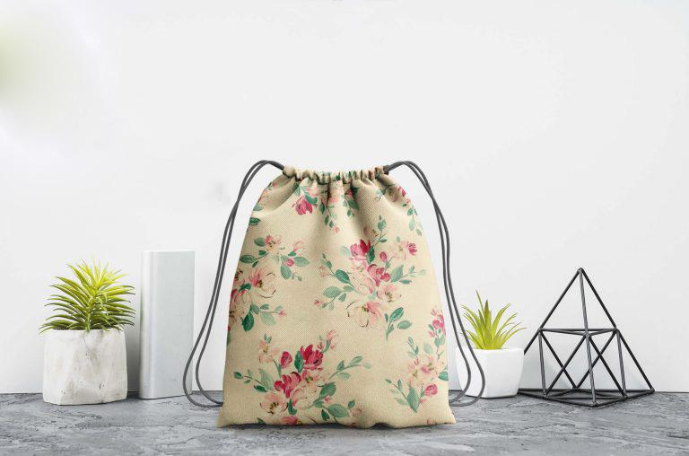 Drawstring Bag Mockup Free (PSD)Template