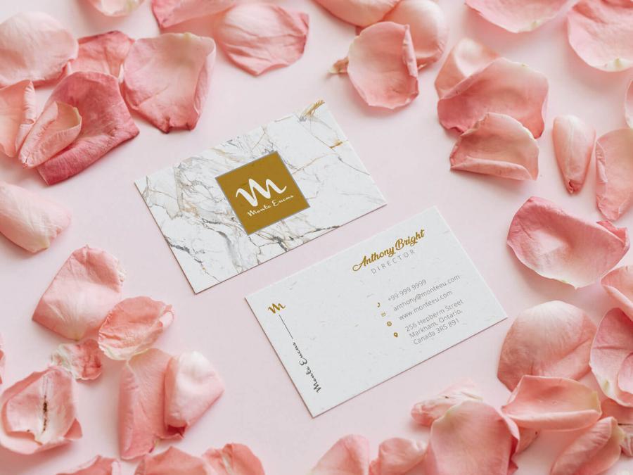 Elegant Floral Business Card Free(PSD) Mockup