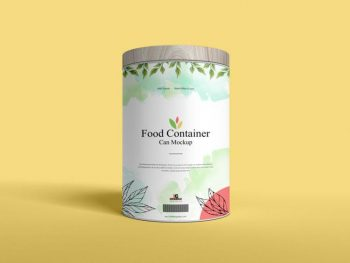 Food Container Can Free (PSD) Mockup