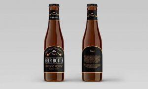 Free Beer Bottles (PSD) Mockup