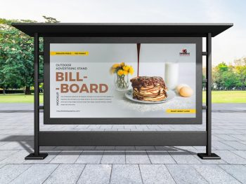 Free (PSD) Outdoor Advertising Stand Billboard Mockup