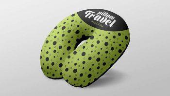 Free Travel Pillow Mockup