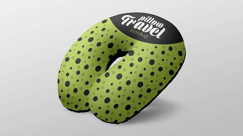 Free Travel Pillow Mockup