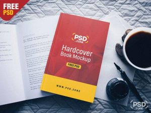 Hardcover Book Free (PSD) Mockup