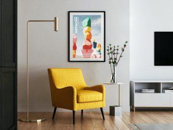 Interior Modern Artwork Frame Free PSD Mockup