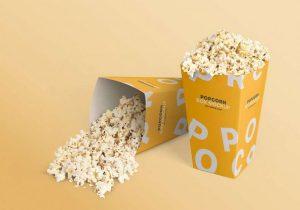 Popcorn Box Free (PSD) Mockup