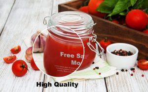 Salsa Jar Free (PSD) Mockup Template