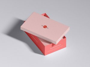 Shoe Box Packaging Free (PSD) Mockup