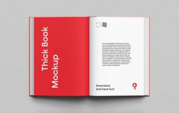 Simple Book Free (PSD) Mockup