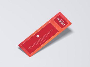Simple Ticket Mockup Free (PSD) Template