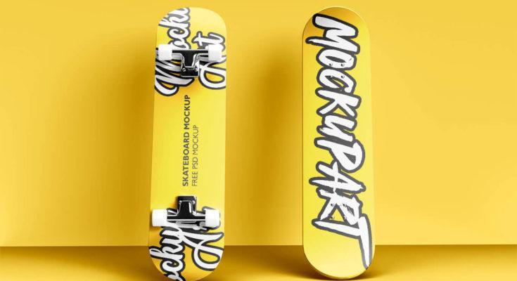 Skateboard Free (PSD) Mockup