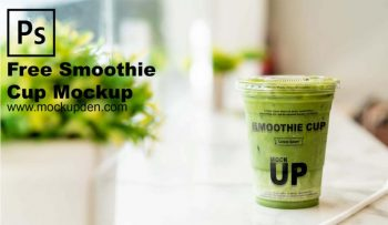 Smoothie Cup Mockup Free PSD Template
