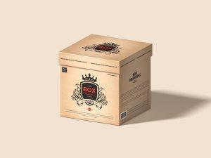 Square Box Branding Packaging Free (PSD) Mockup