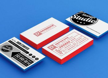 Stack of Business Card Free (PSD) Mockup