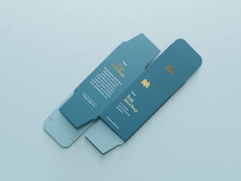 Unfolded Box Free (PSD) Mockup
