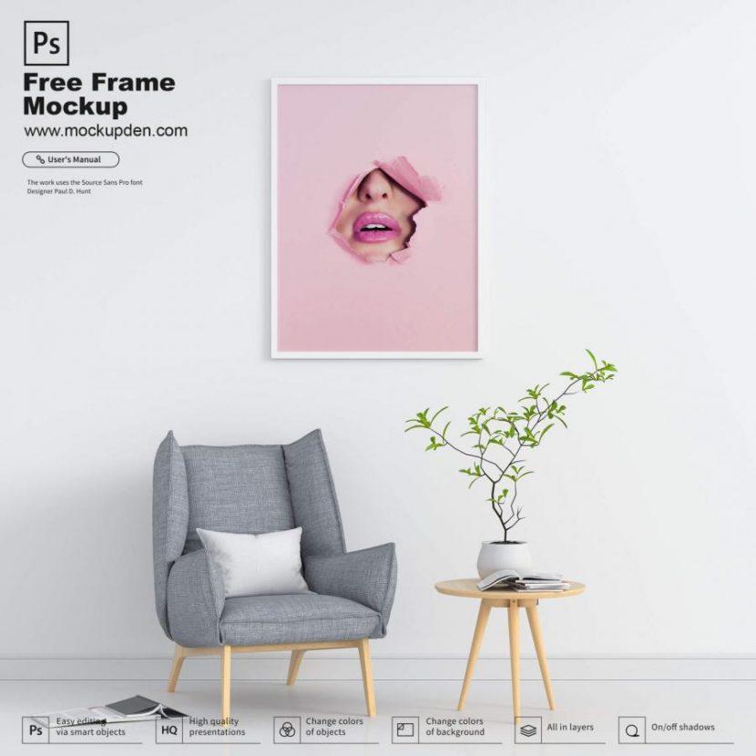 Wall Decor Frame Free (PSD) Mockup