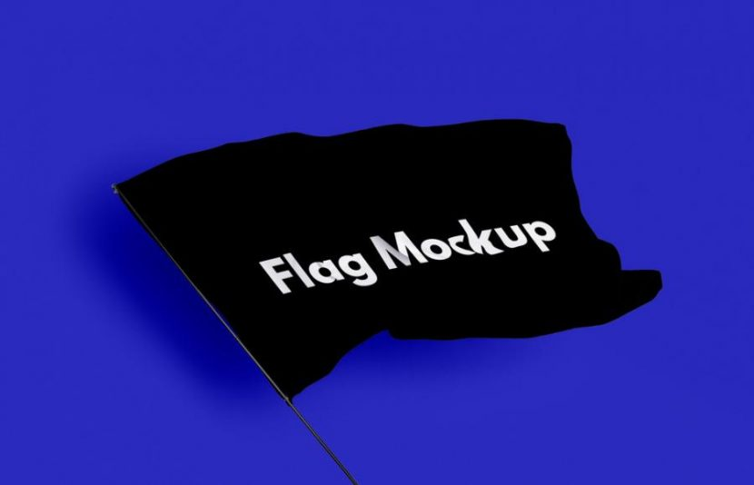 Waving Flag Free (PSD) Mockup