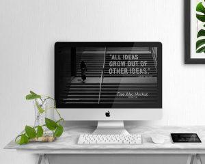 iMac Display Free (PSD) Mockup