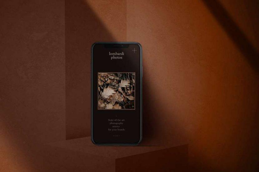 iPhone Dark Background Free (PSD) Mockup