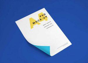 A4 Paper Free (PSD) Mockup