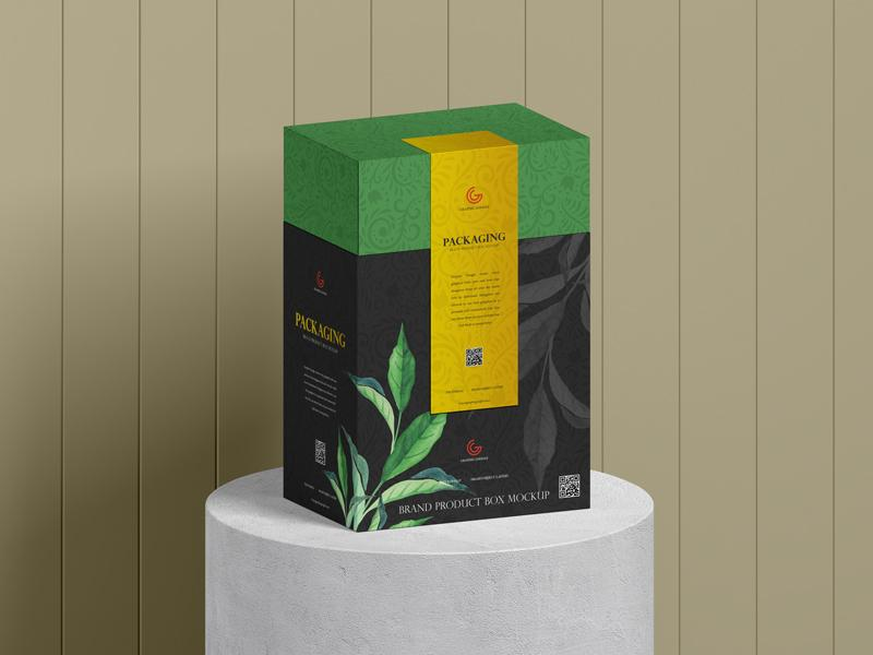 Brand Product Packaging Box Free Mockup