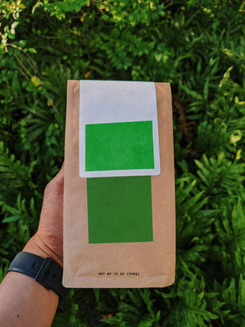 Crafted Coffee Bag in Hand Free Mockup