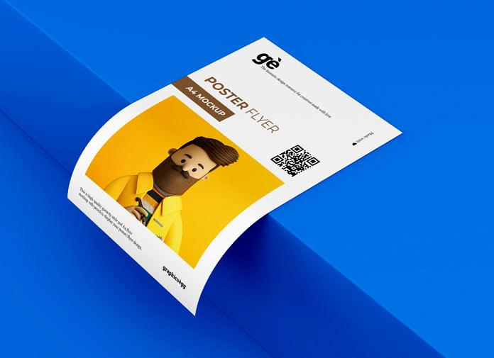 Free A4 Flyer Paper Mockup