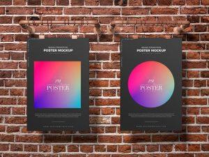 Free Brand Promotion Artwork Poster Mockup