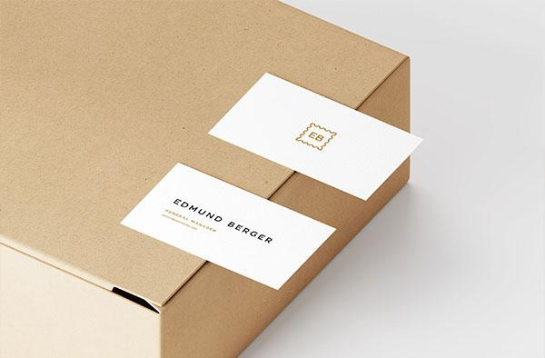 Free Business Cards On Box Mockup