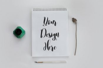 Free Calligraphy Notebook Mockup