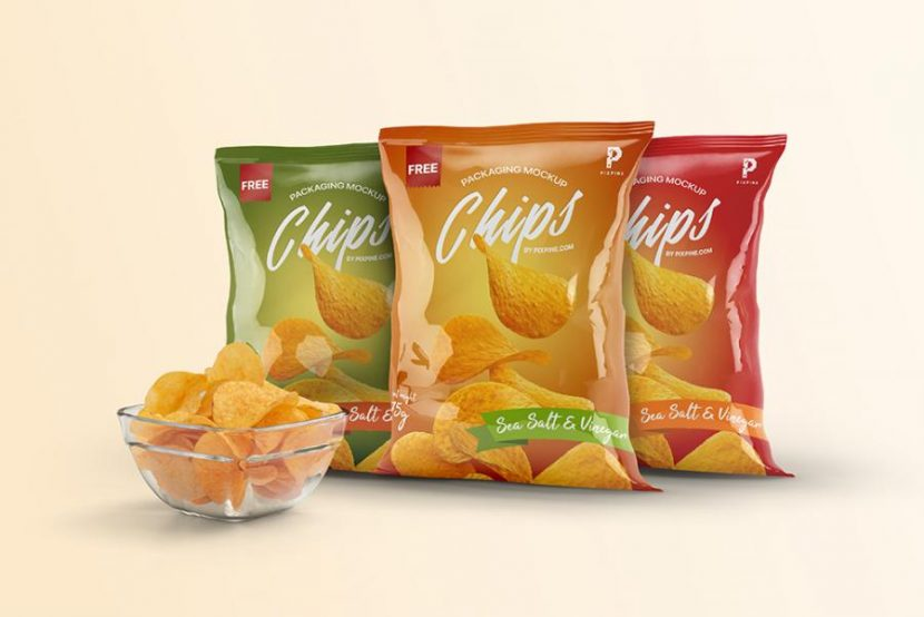 Free Chips Bag Packaging Mockups