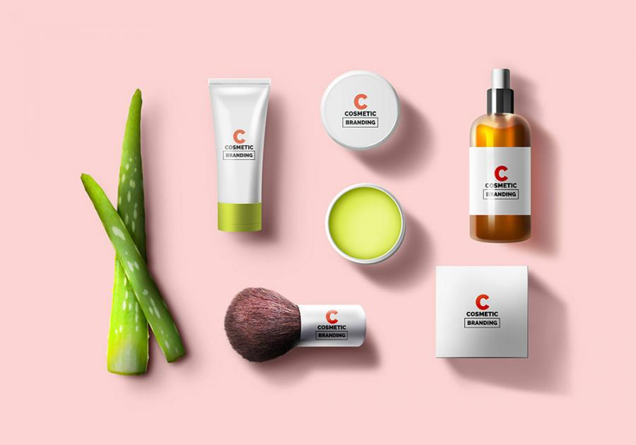 Free Cosmetic Branding & Packaging Mockup Set
