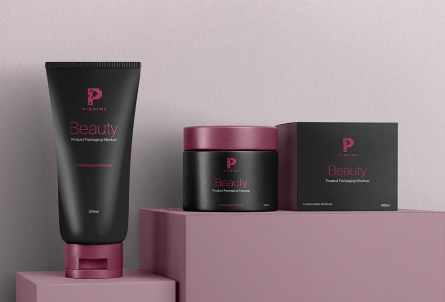 Free Cosmetic Jar and Tube Mockups
