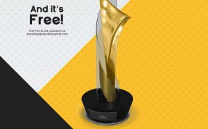 Free Gold Award Mockup Template
