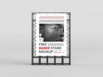 Free Large Banner Stand Mockup