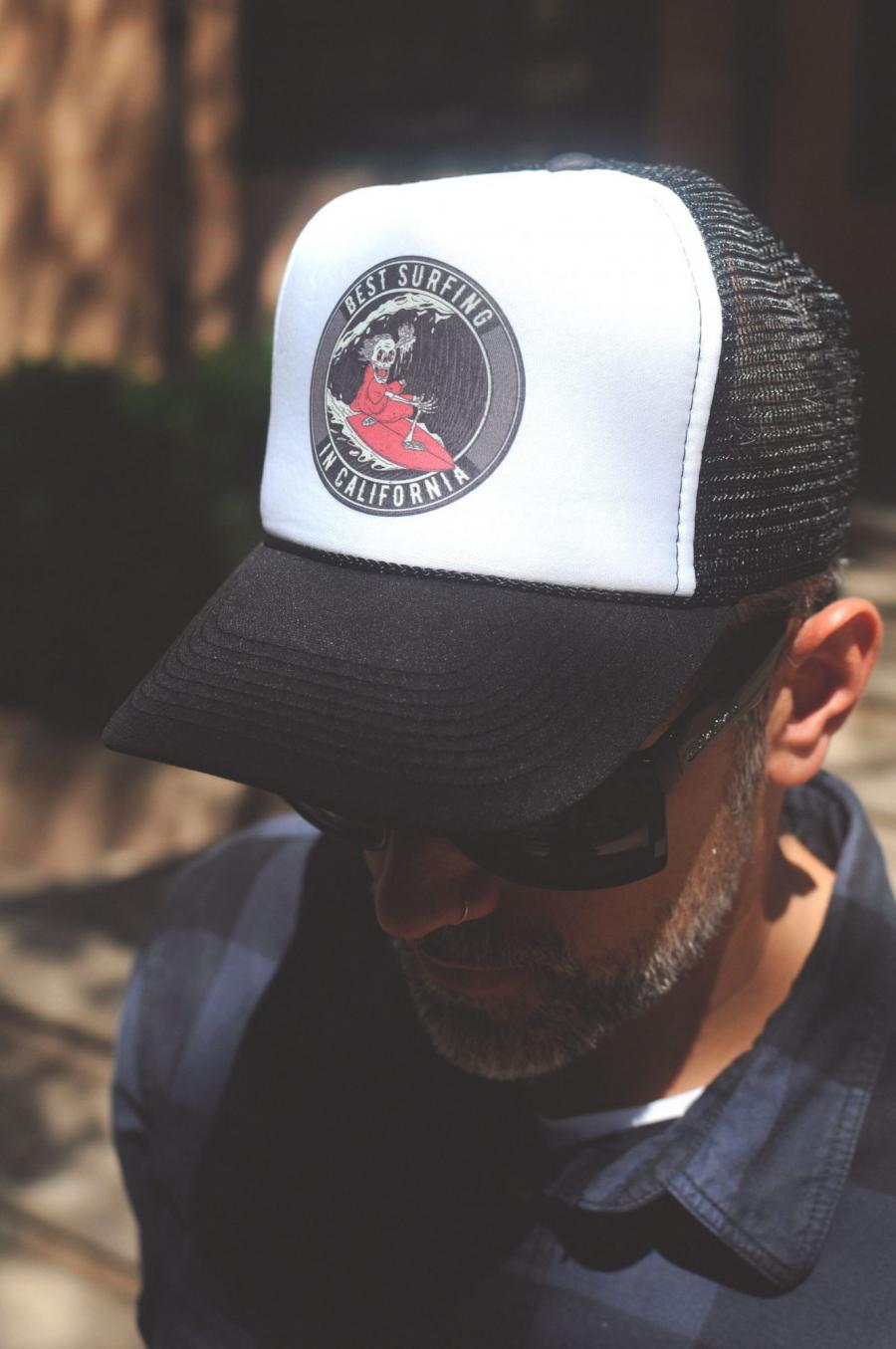 Free Man Wearing Cap Mockup