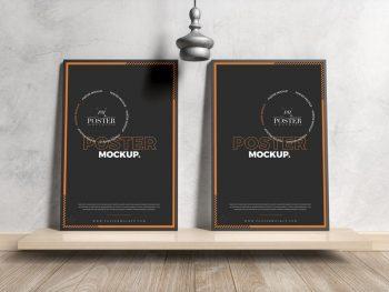 Free Modern Interior Framed Posters Mockup