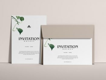 Free Modern Invitation Mockup